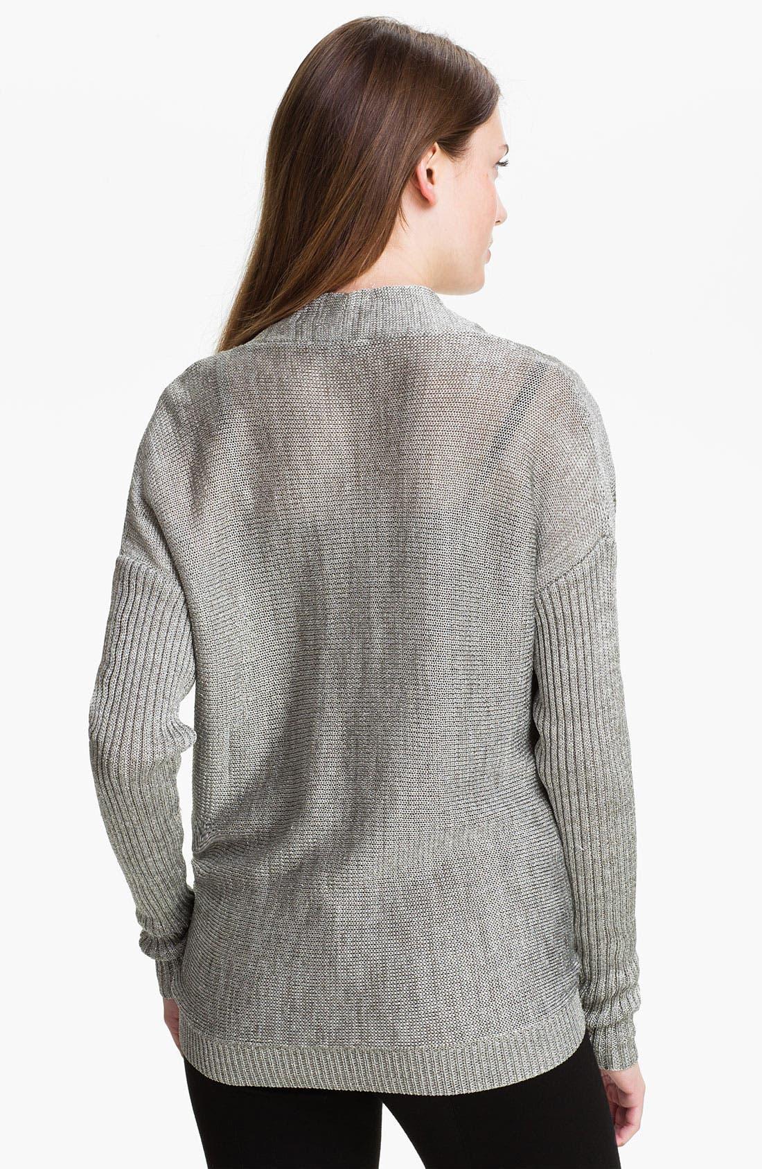 Alternate Image 2  - Vince Camuto Drape Neck Metallic Knit Sweater