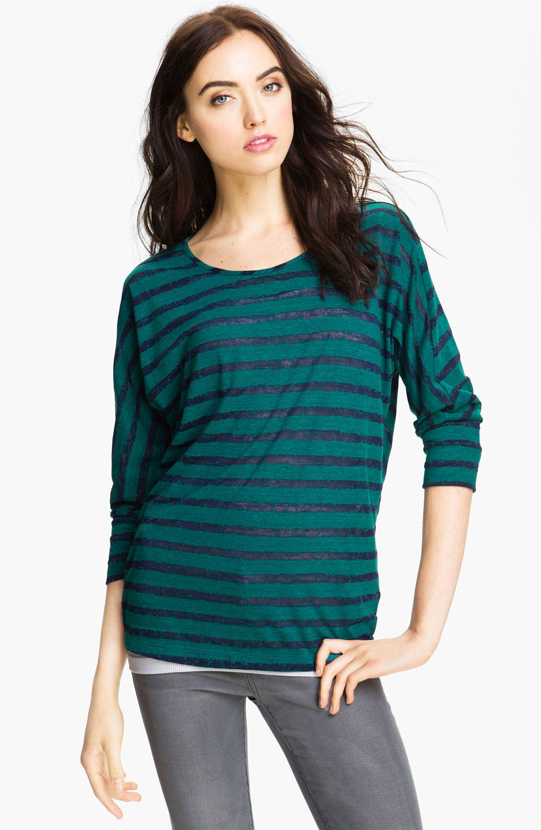 Alternate Image 1 Selected - Caslon® Stripe Dolman Tee