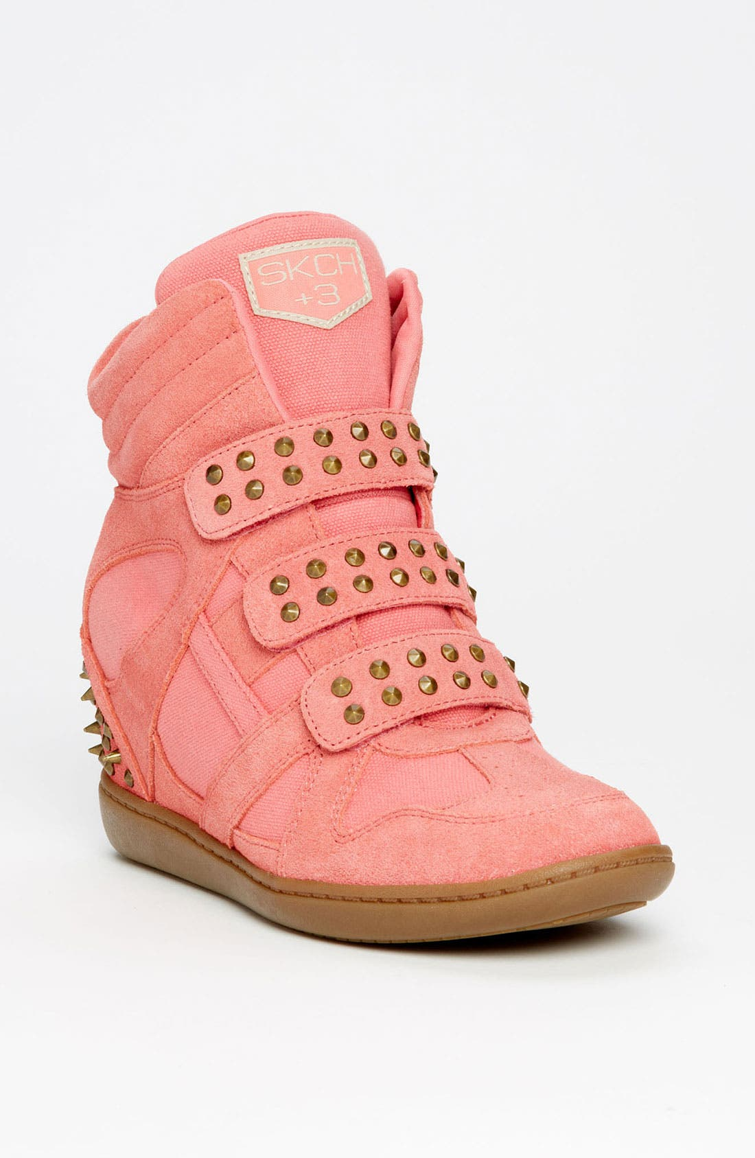 Main Image - SKECHERS 'Plus 3 - Staked' Wedge Sneaker (Women)