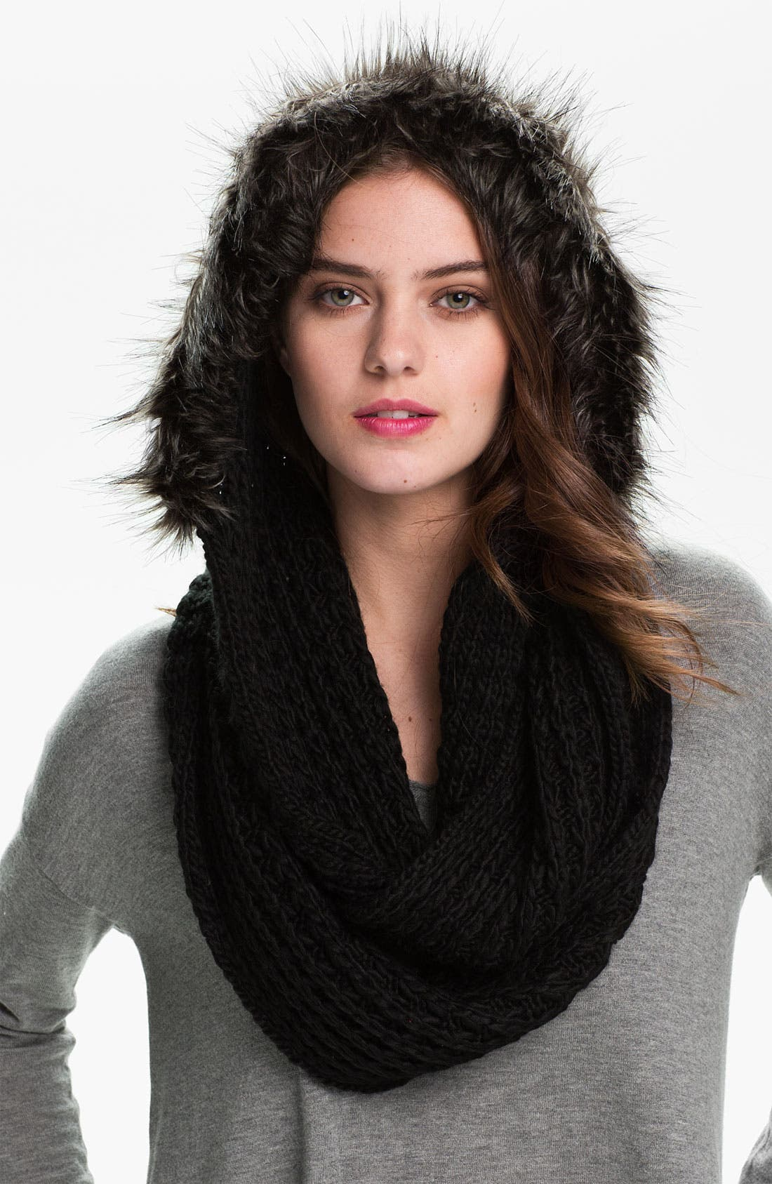 Alternate Image 1 Selected - La Fiorentina Hooded Infinity Scarf