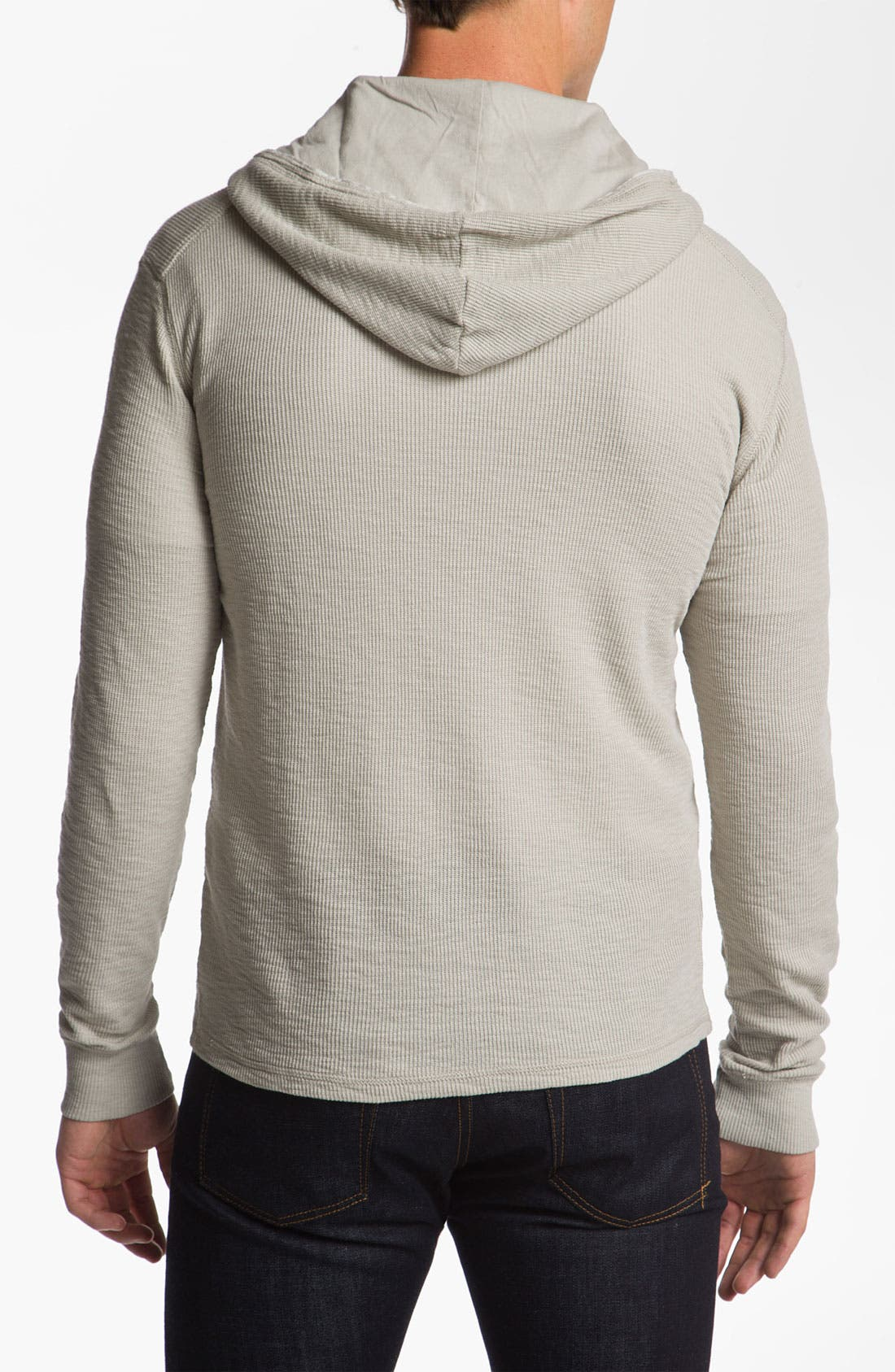 Alternate Image 2  - 7 For All Mankind® Slubbed Thermal Hoodie