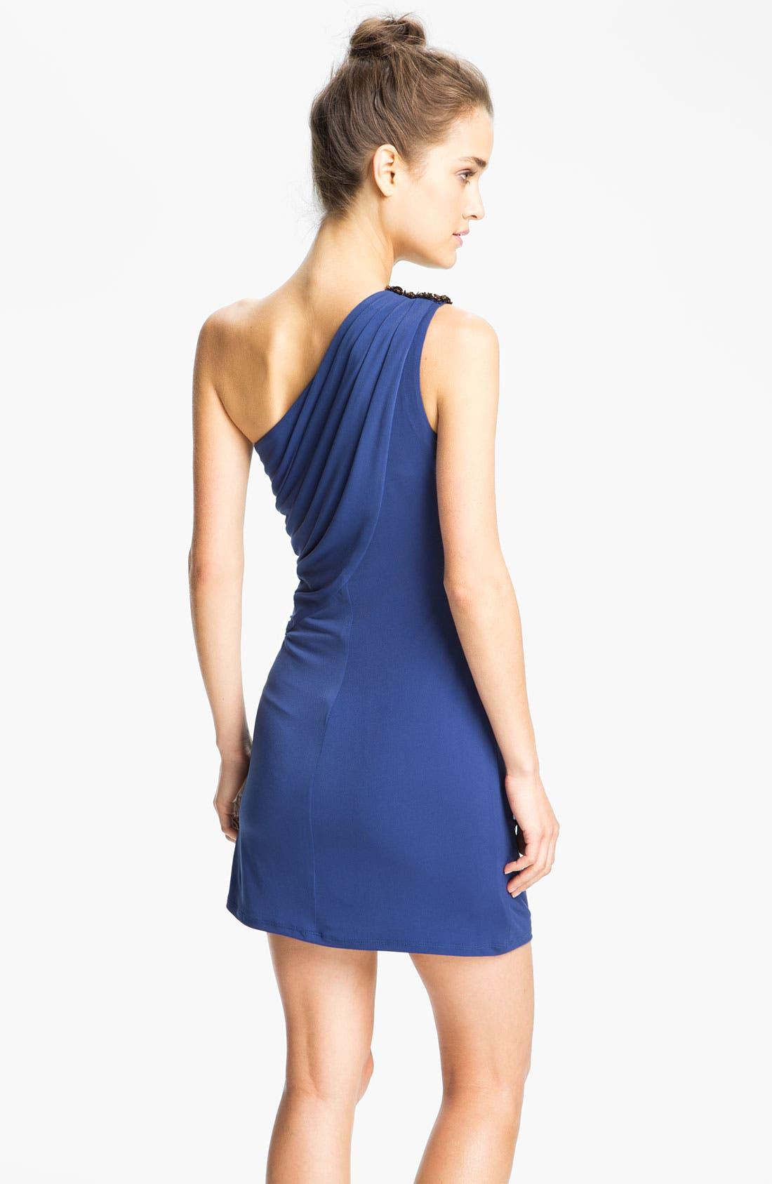Alternate Image 2  - Max & Cleo 'Helen' Embellished One Shoulder Dress