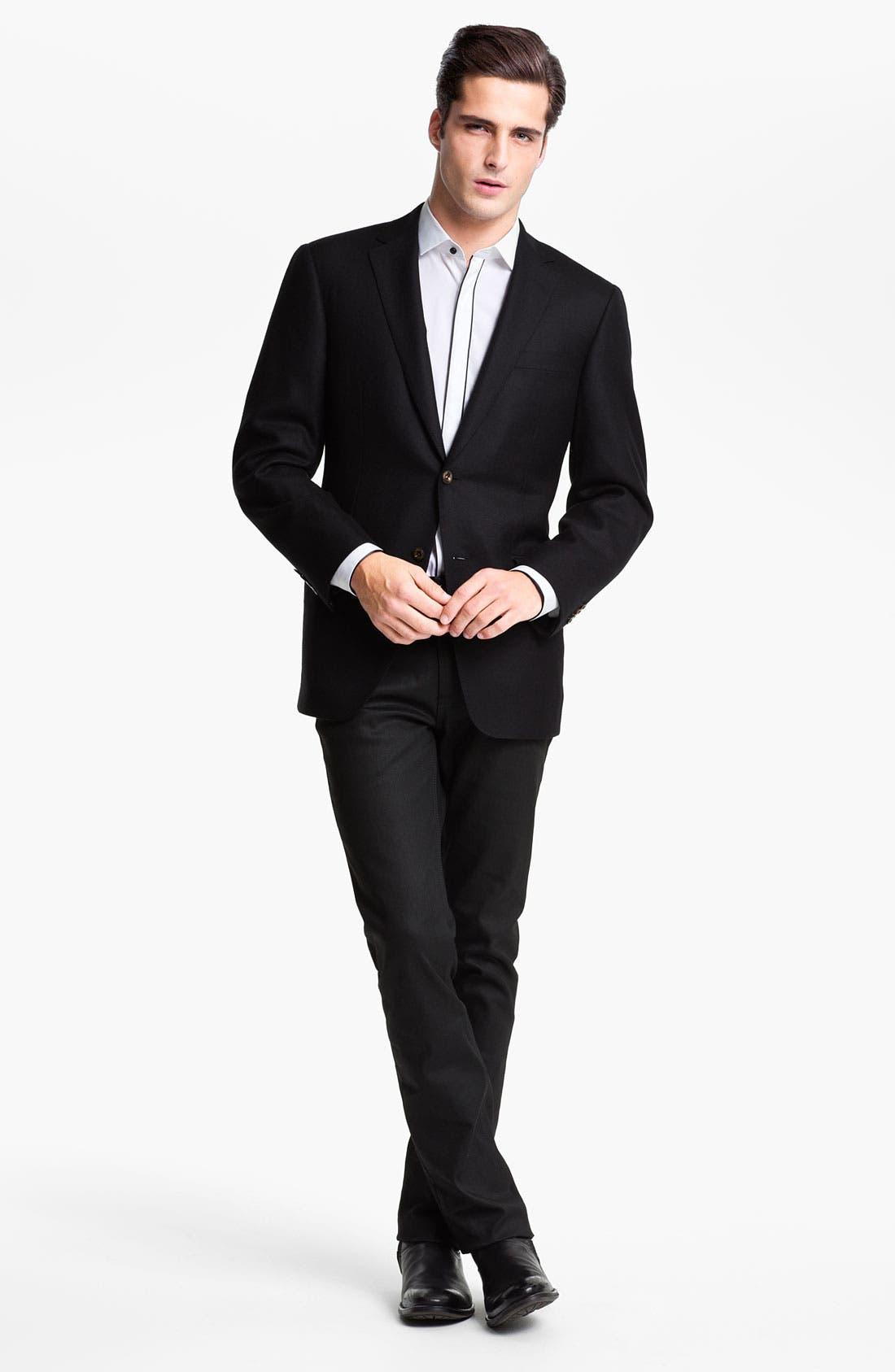 Alternate Image 2  - HUGO 'Excitex' Slim Fit Tuxedo Shirt