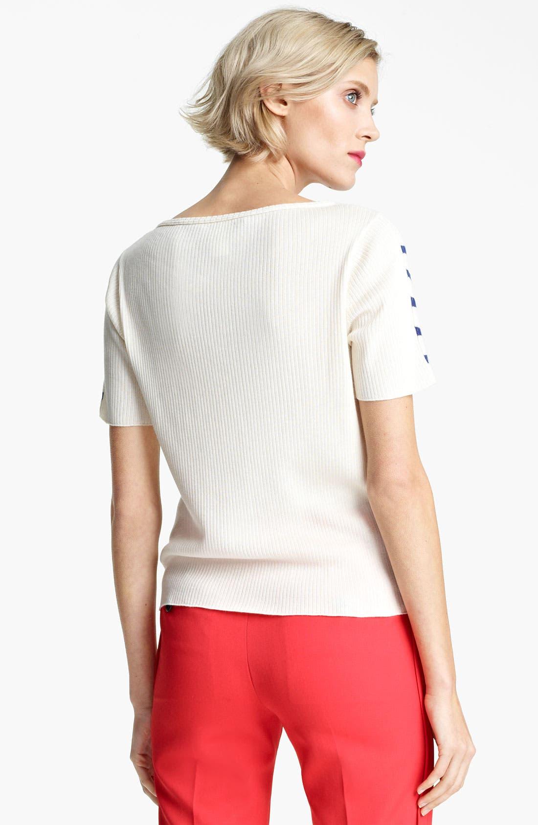 Alternate Image 2  - MARC JACOBS Stripe Short Sleeve Sweater