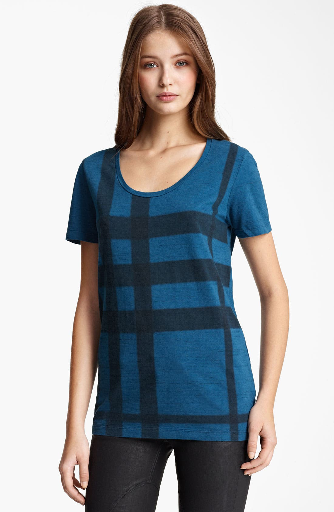 Alternate Image 1 Selected - Burberry Brit Check Print Tee