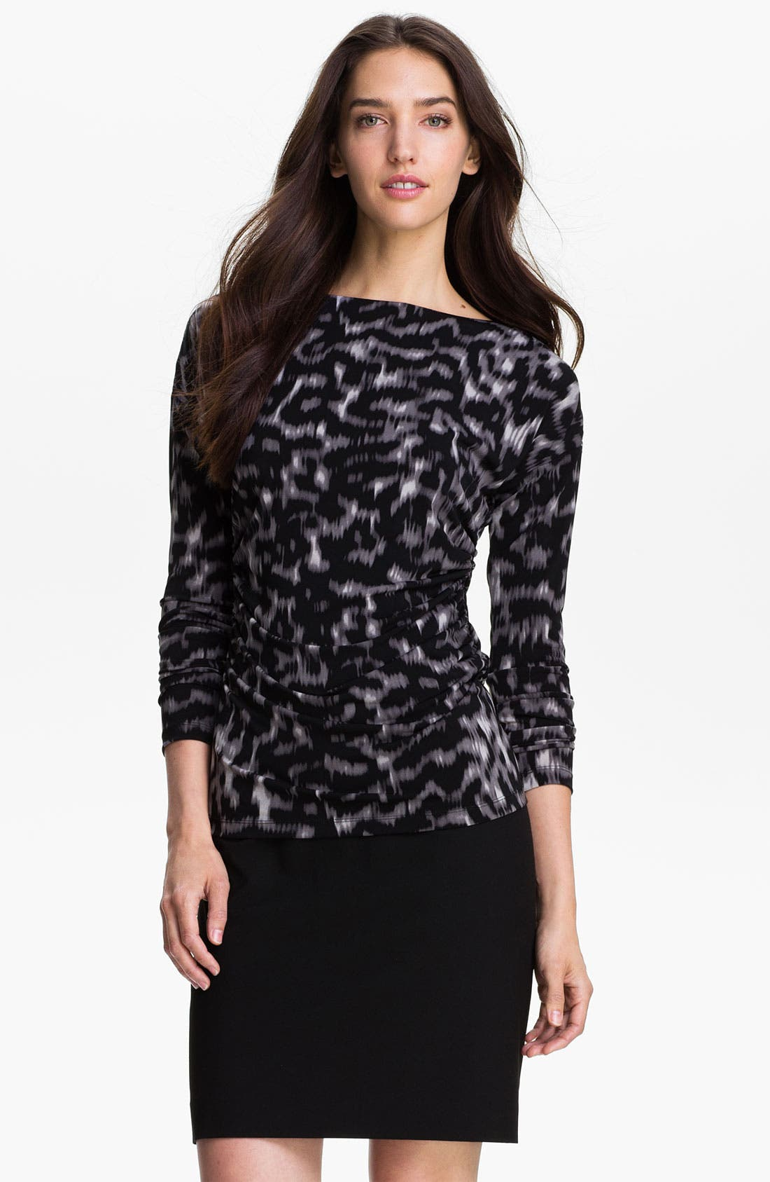 Alternate Image 1 Selected - Vince Camuto Ruched Bateau Neck Top