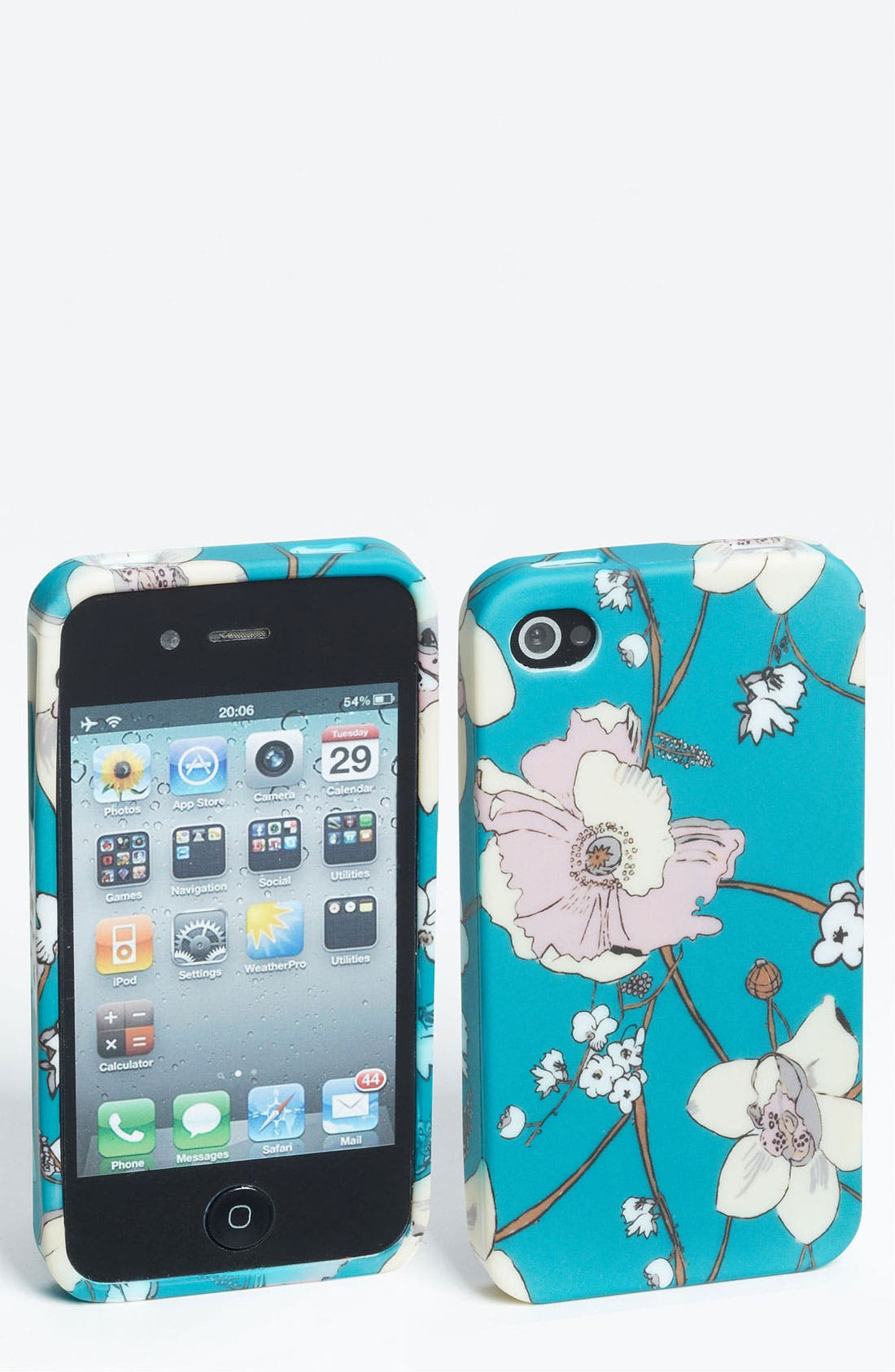 Alternate Image 1 Selected - Design Lab 'Wallpaper Floral' iPhone 4 & 4S Case