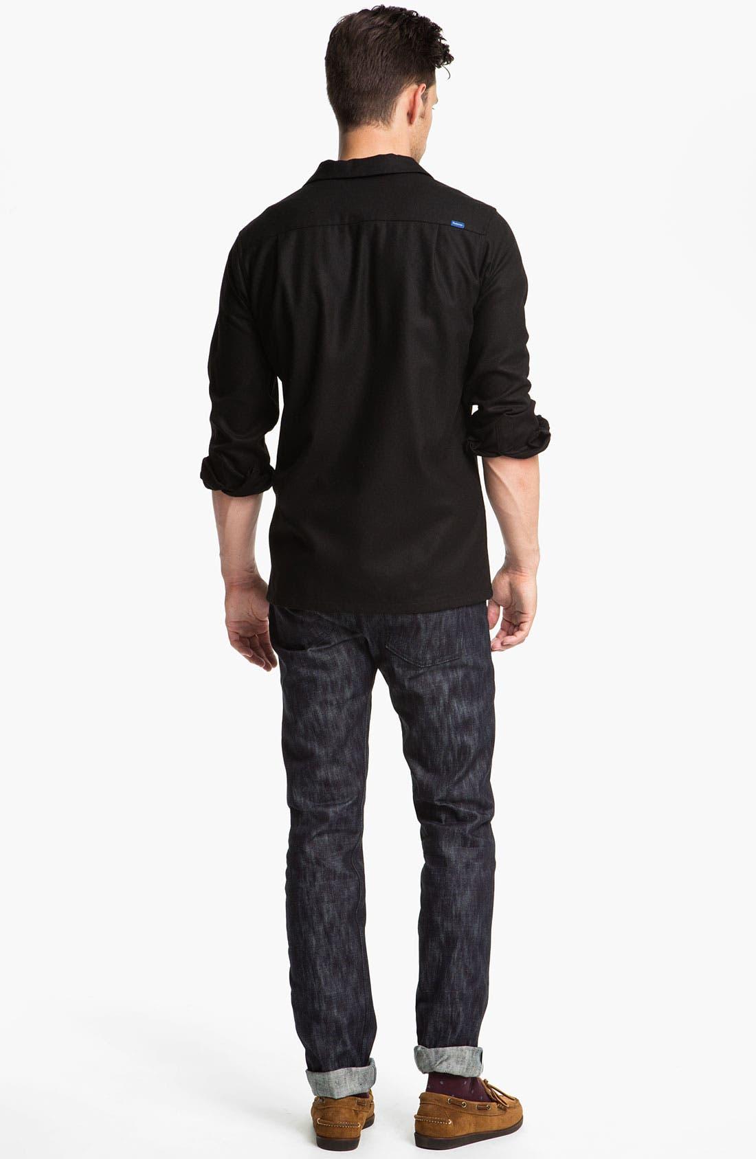 Alternate Image 6  - Naked & Famous Denim 'Weird Guy' Slim Tapered Leg Selvedge Jeans (Slubbed Indigo)