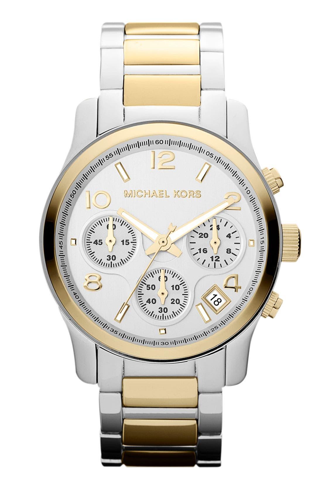 Main Image - Michael Kors 'Runway' Chronograph Watch, 38mm