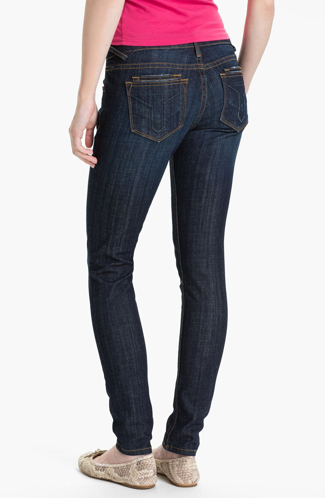 Alternate Image 1 Selected - Vigoss 'True' Skinny Stretch Denim Jeans (Juniors)
