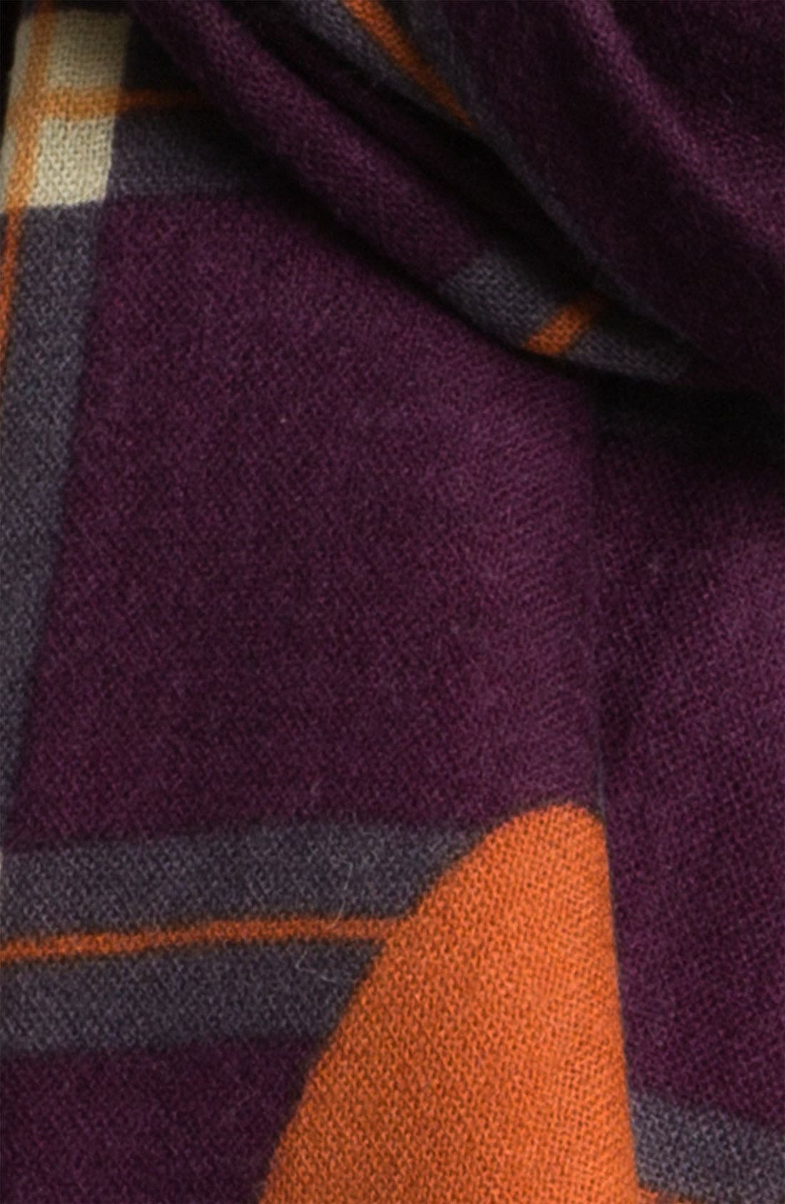Alternate Image 2  - Yarnz Plaid Cashmere & Wool Scarf