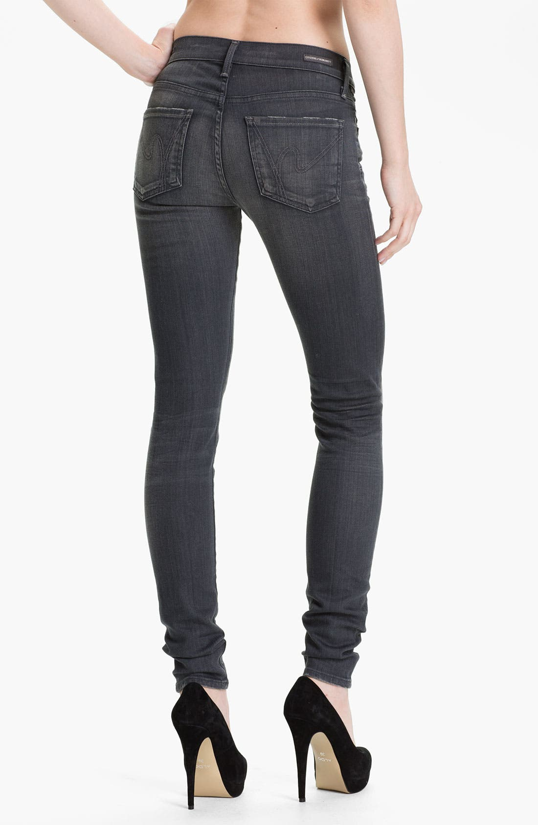 Alternate Image 2  - Citizens of Humanity Skinny Stretch Denim Jeans (Flint)