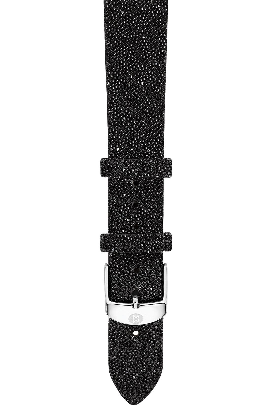 Alternate Image 1 Selected - MICHELE 'Deco Diamond' Watch Case & 18mm Glitter Strap