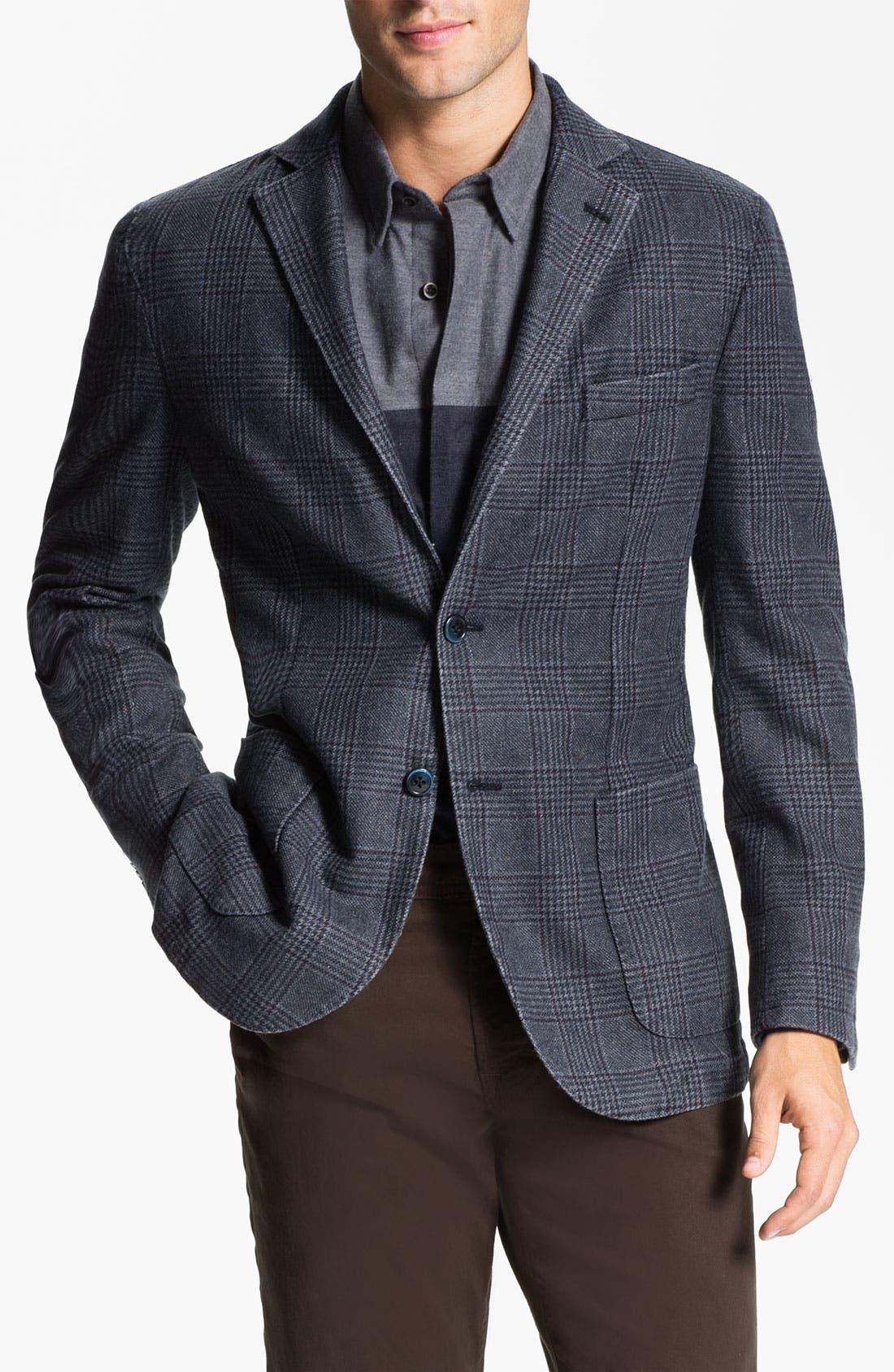 Main Image - Lubiam Trim Fit Plaid Wool Blend Sportcoat