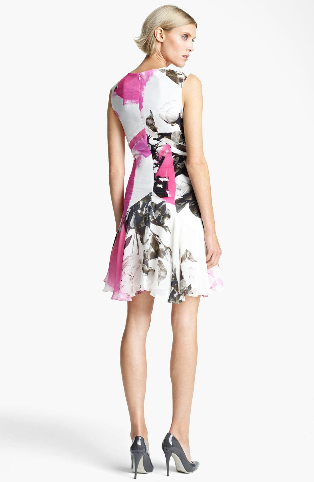 Alternate Image 2  - Christopher Kane Print Flounce Hem Dress