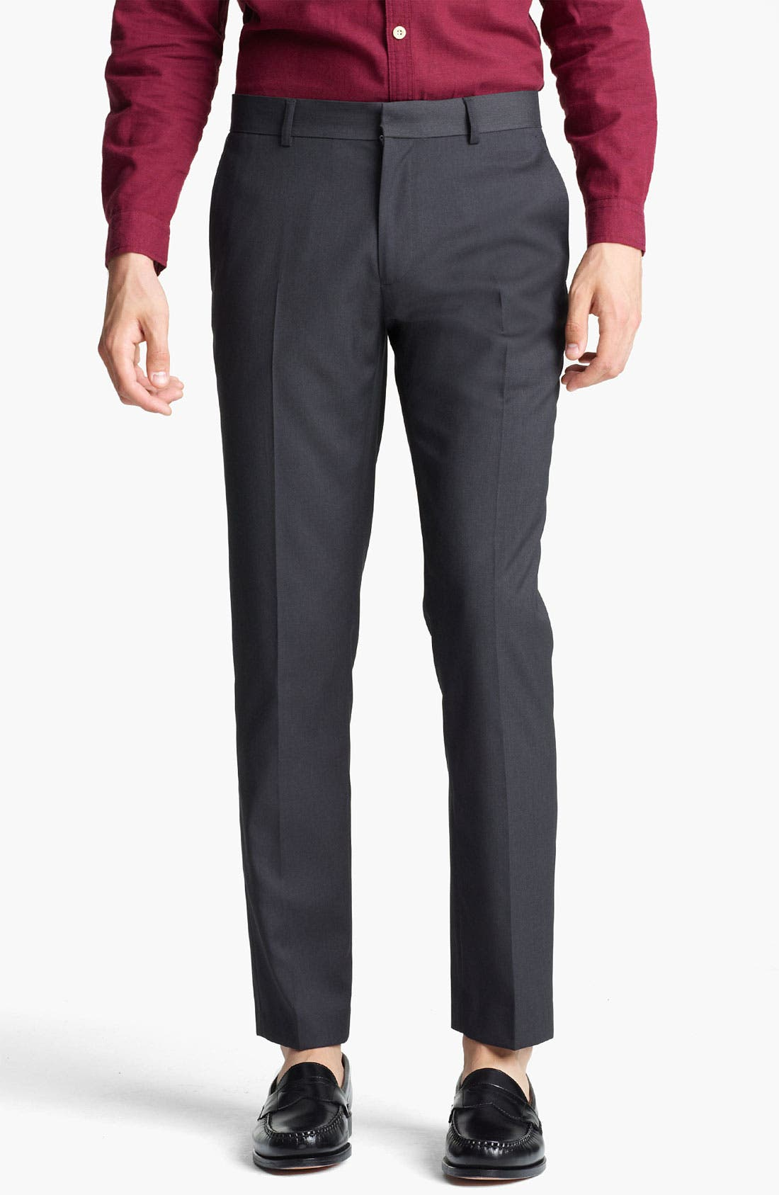 Alternate Image 1 Selected - Topman Skinny Fit Trousers