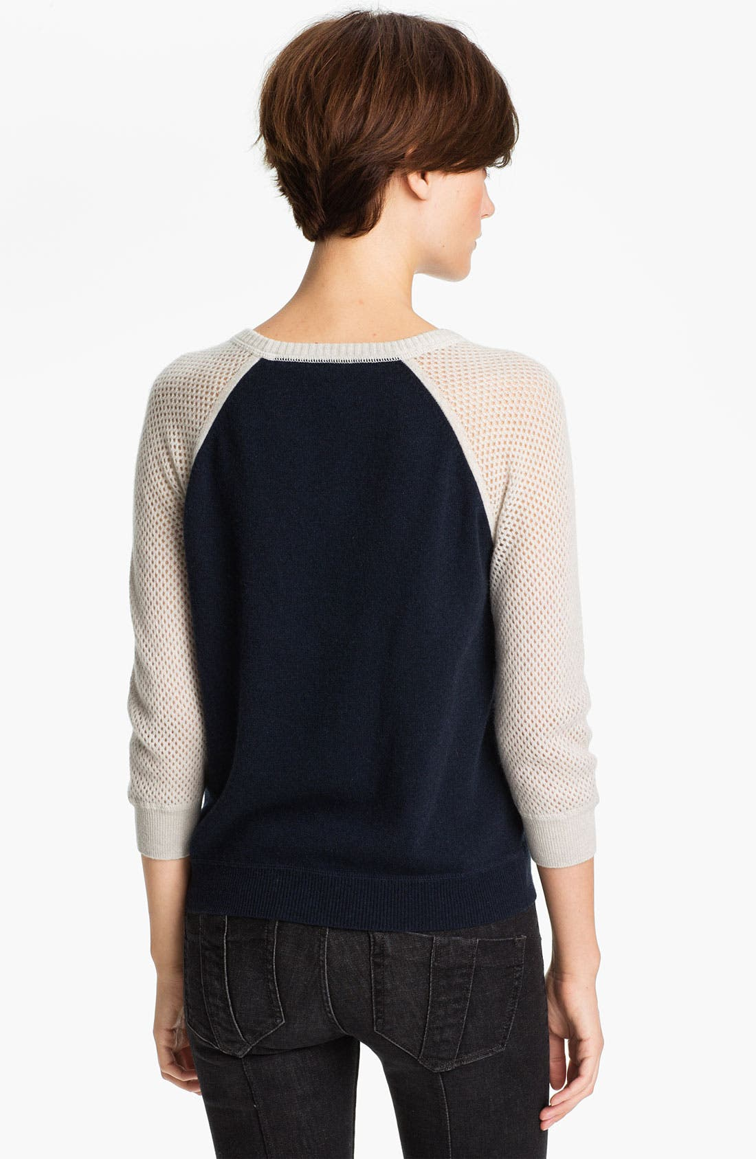 Alternate Image 2  - autumn cashmere Colorblock Mesh Sweatshirt
