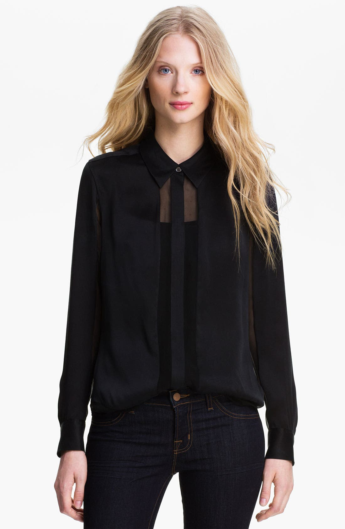 Main Image - Equipment 'Earl' Paneled Silk Shirt