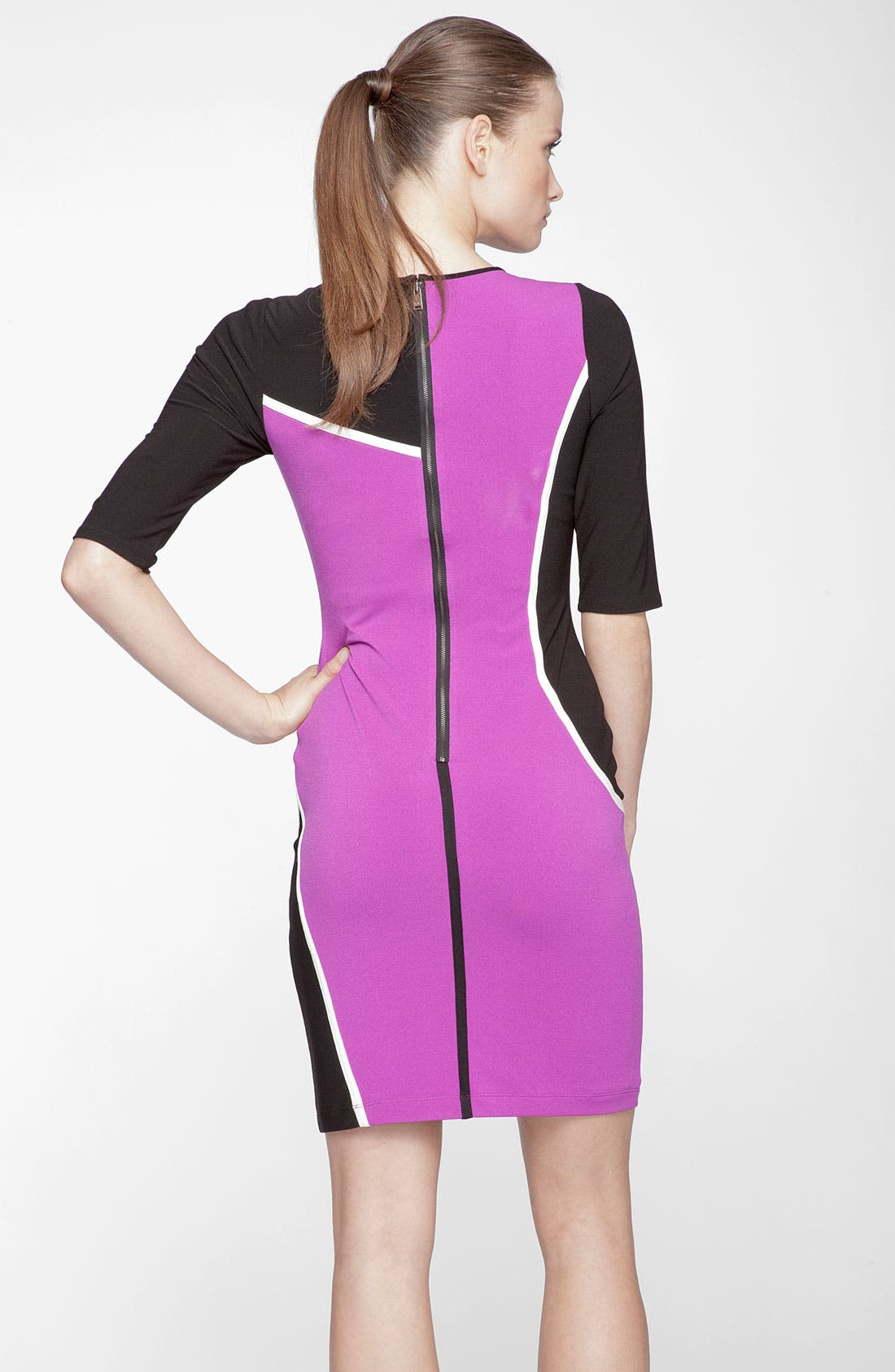Alternate Image 2  - Marc New York by Andrew Marc Colorblock Jersey Sheath Dress