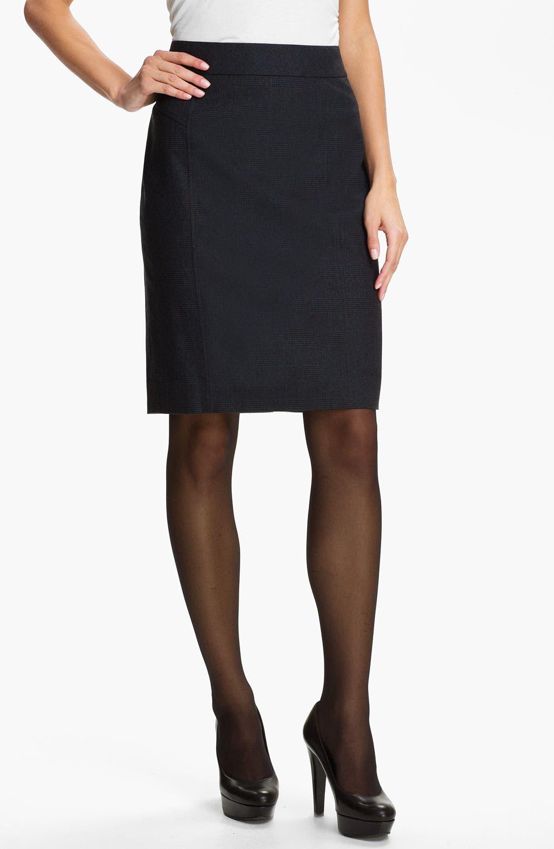 Alternate Image 1 Selected - Classiques Entier® 'Adima Check' Skirt