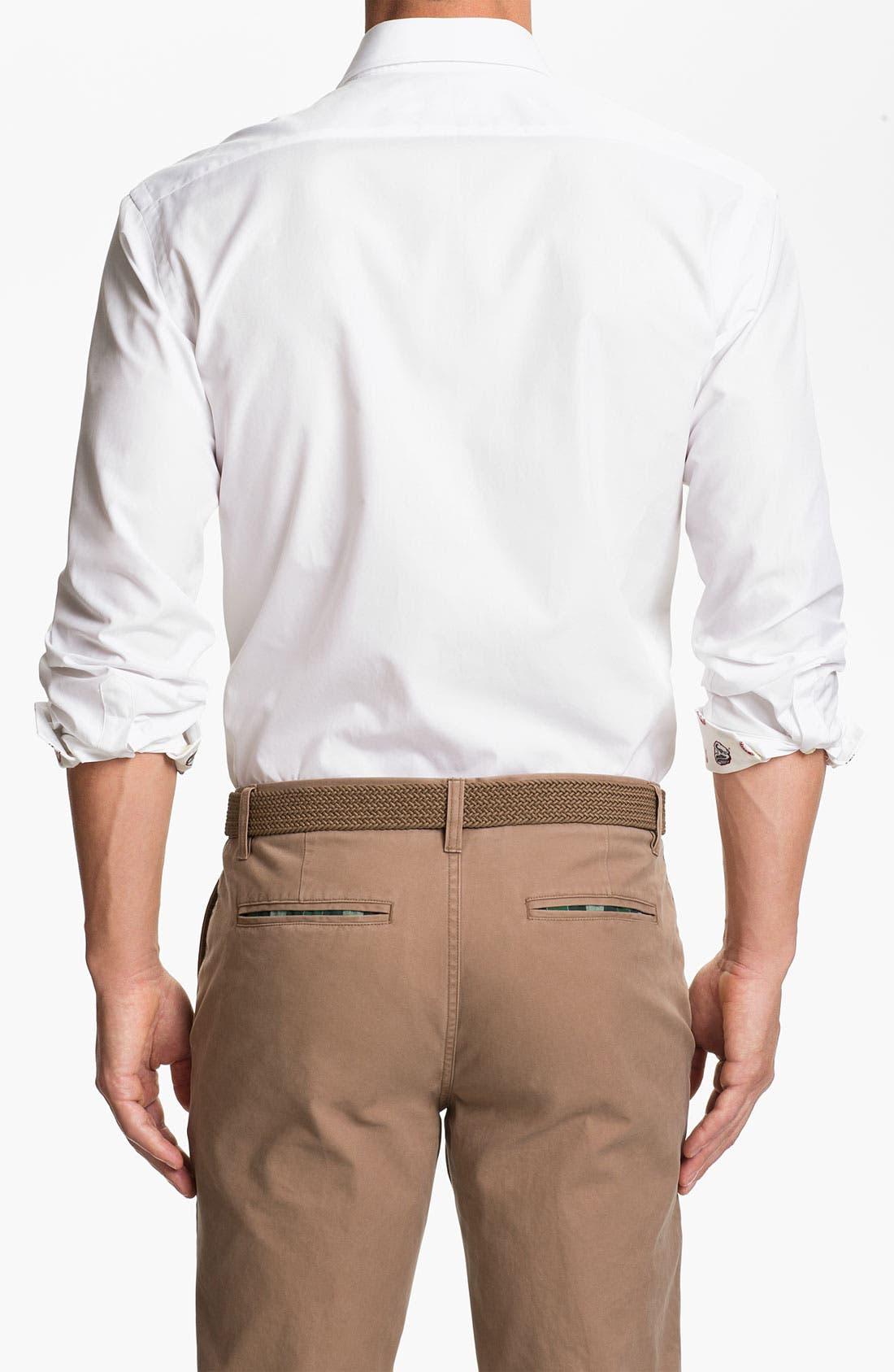 Alternate Image 2  - Thomas Dean 'University of Alabama' Regular Fit Sport Shirt