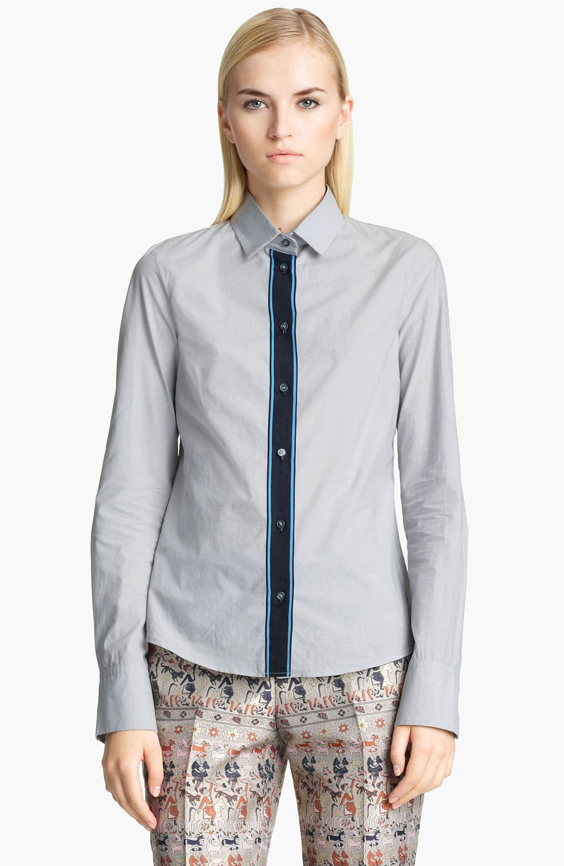 Alternate Image 1 Selected - Jil Sander Navy Contrast Shirt