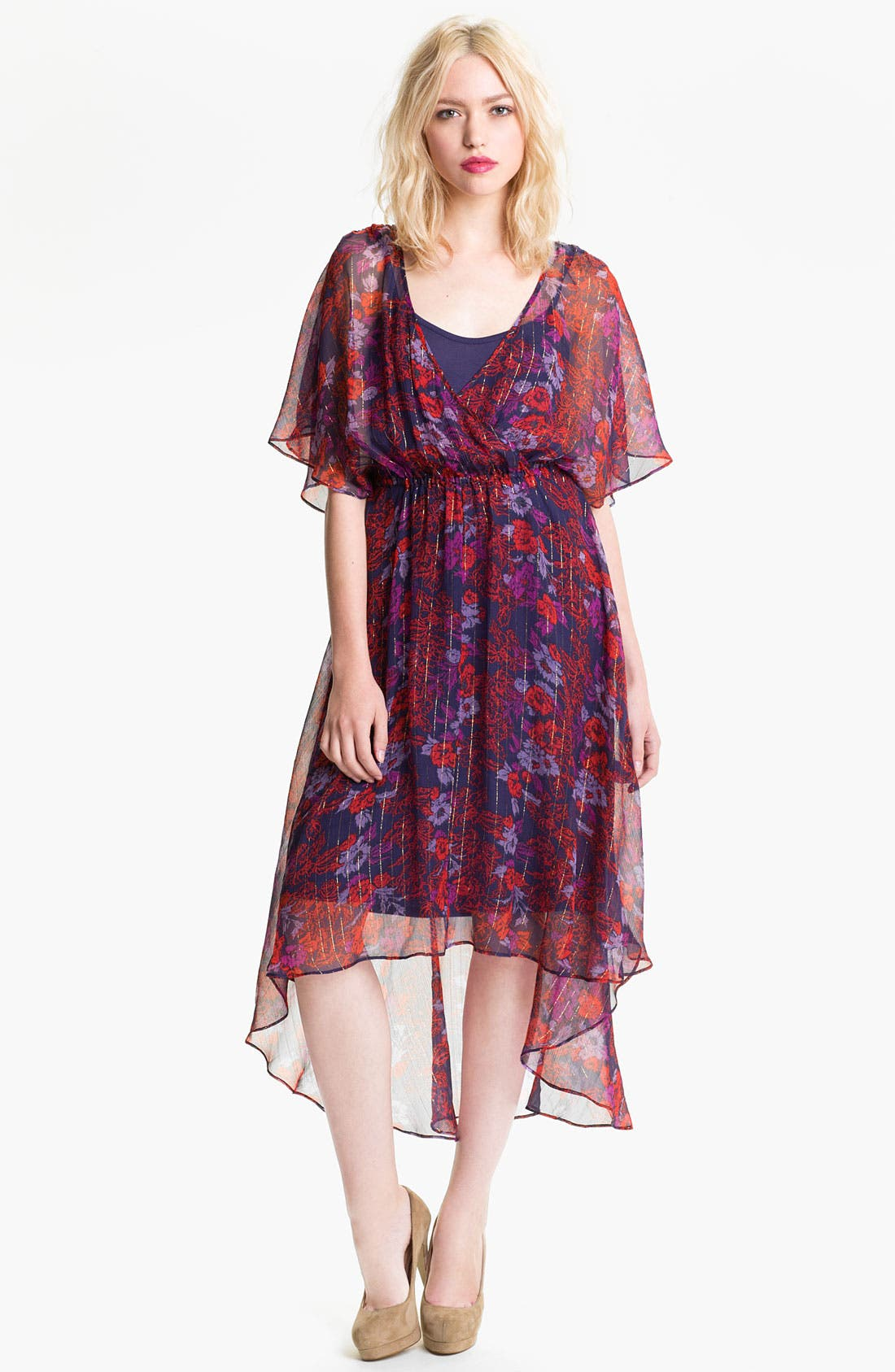 Alternate Image 1 Selected - Ella Moss 'Rosemary' High/Low Print Dress