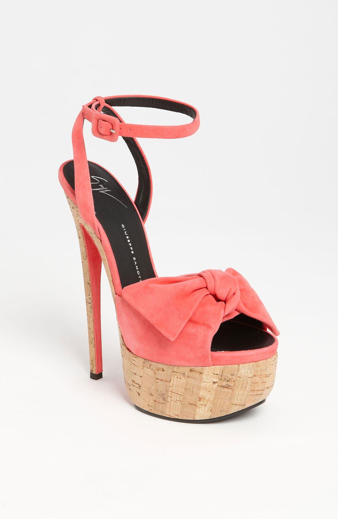Main Image - Giuseppe Zanotti Cork Sandal
