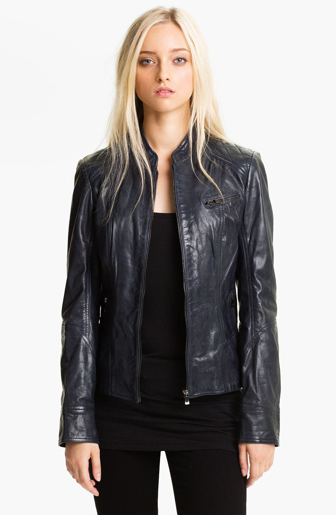 Main Image - Bod & Christensen Leather Moto Jacket