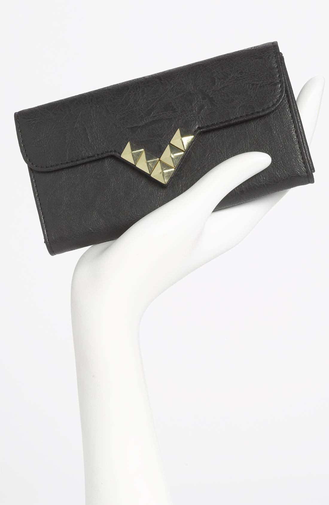 Alternate Image 2  - Lulu Studded Faux Leather Flap Wallet