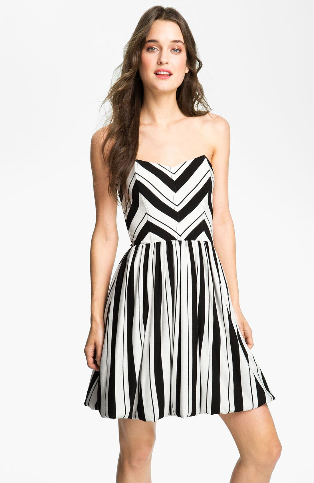 Alternate Image 1 Selected - Ella Moss Stripe Strapless Dress