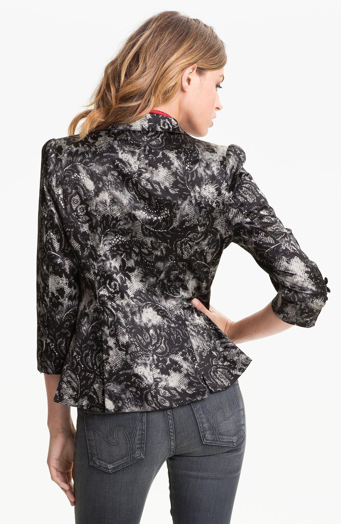 Alternate Image 2  - Bellatrix Lace Print Blazer