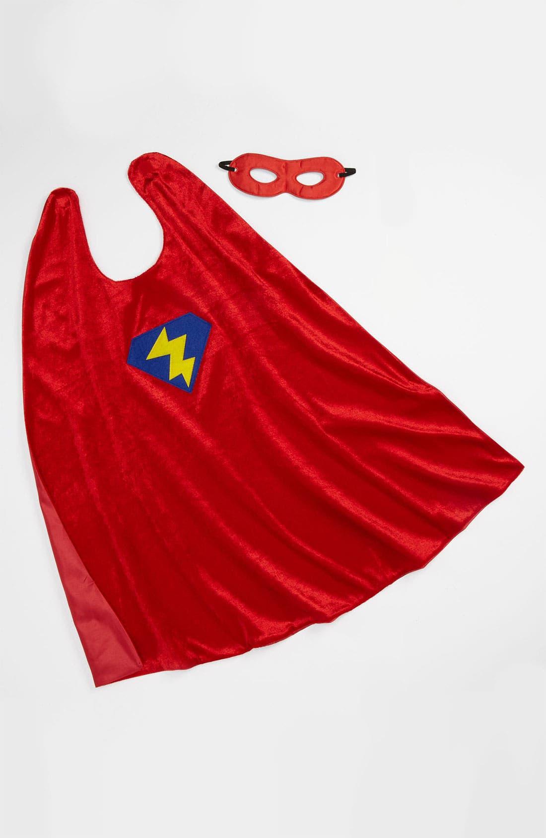 Alternate Image 1 Selected - Little Adventures 'Superhero' Cape & Mask (Toddler)