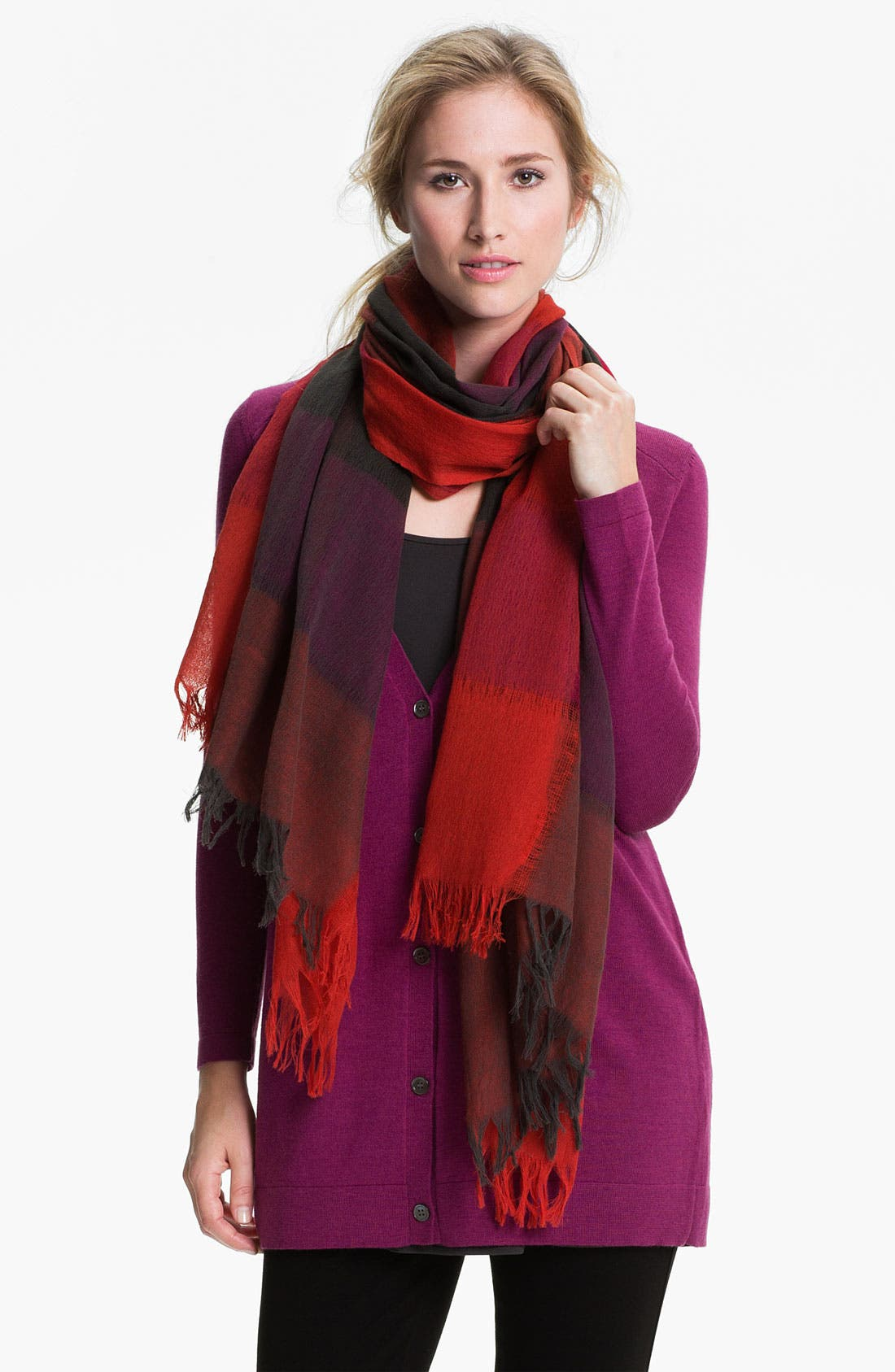 Alternate Image 1 Selected - Eileen Fisher Fringed Wool Scarf