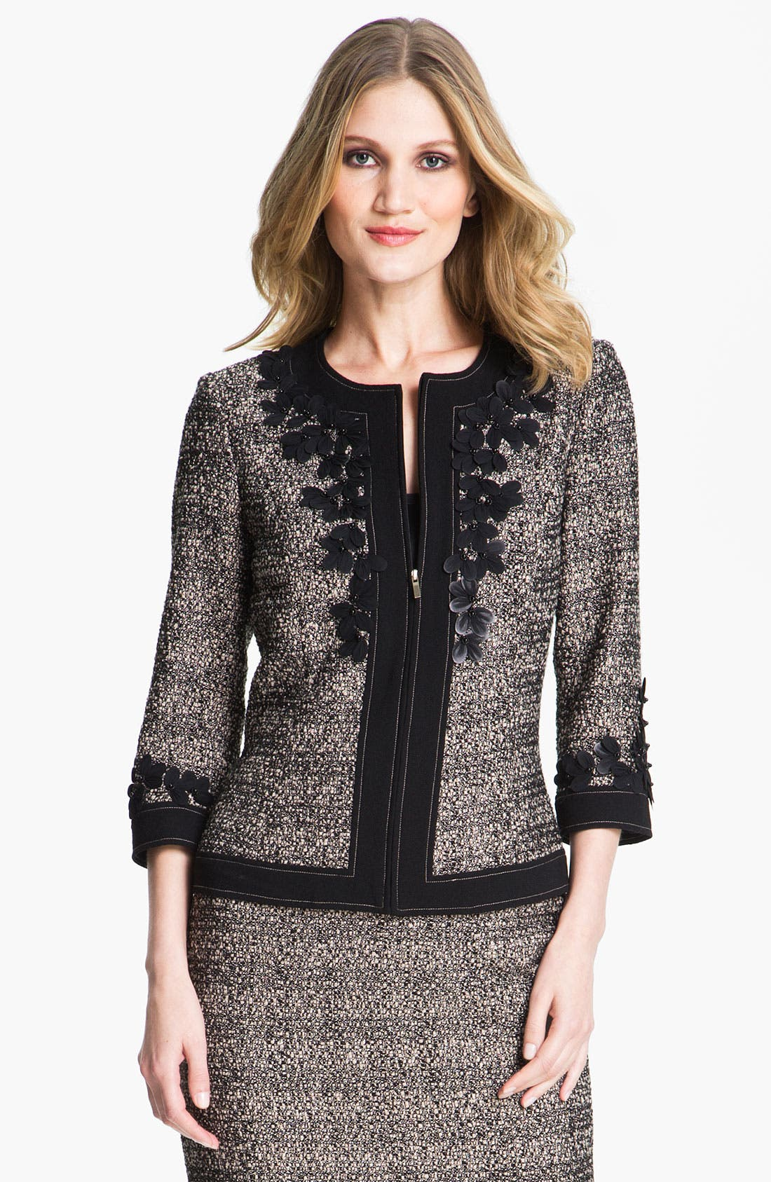 Alternate Image 1 Selected - St. John Collection Graphic Tweed Jacket