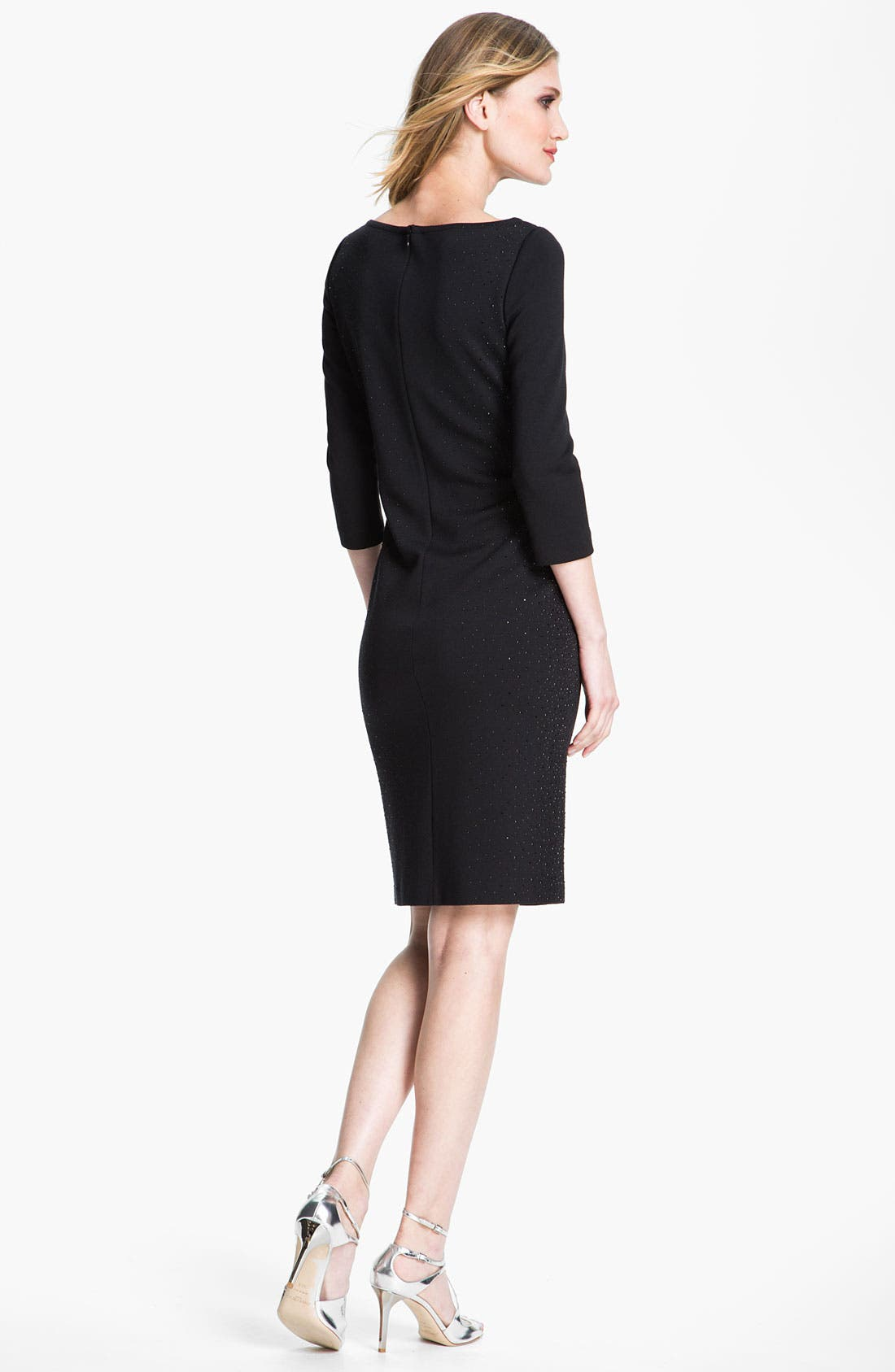 Alternate Image 2  - St. John Collection Milano Knit Cocktail Dress