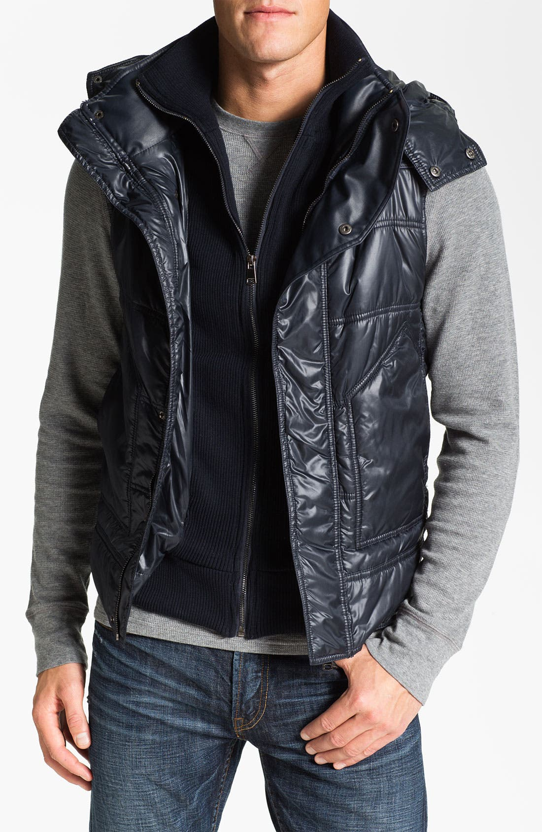 Main Image - Paul Black Hooded Vest