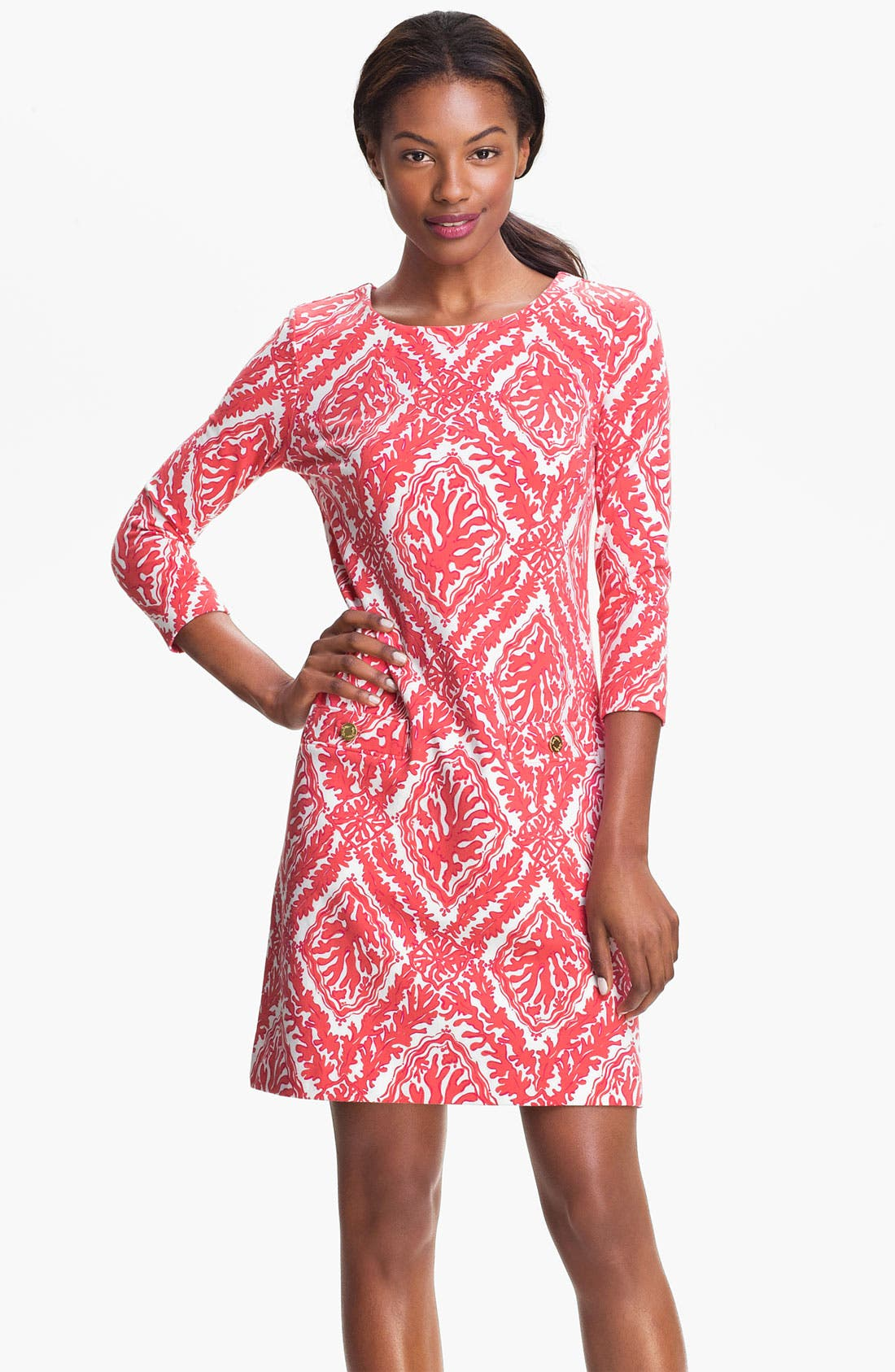 Main Image - Lilly Pulitzer® 'Charlene' Coral Knit Shift Dress