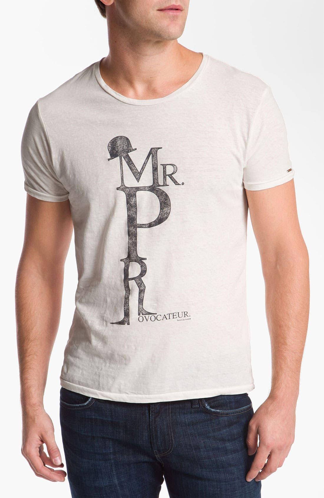 Main Image - Scotch & Soda 'Monsieur Provocateur' Graphic Cotton & Linen T-Shirt