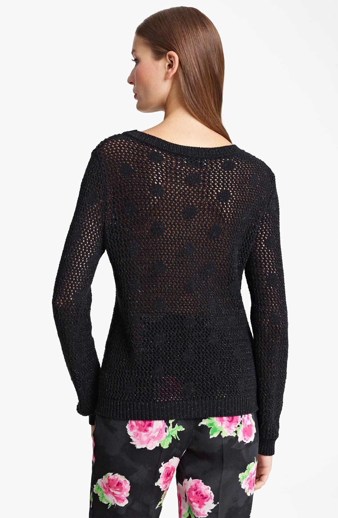 Alternate Image 2  - Moschino Cheap & Chic Dot Metallic Mesh Pullover