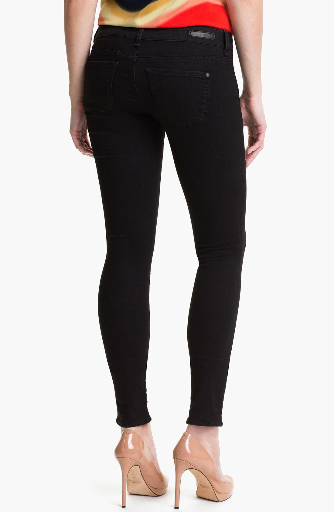 Alternate Image 2  - Mavi Jeans 'Serena' Low Rise Super Skinny Jeans (Black Shanti) (Online Exclusive)