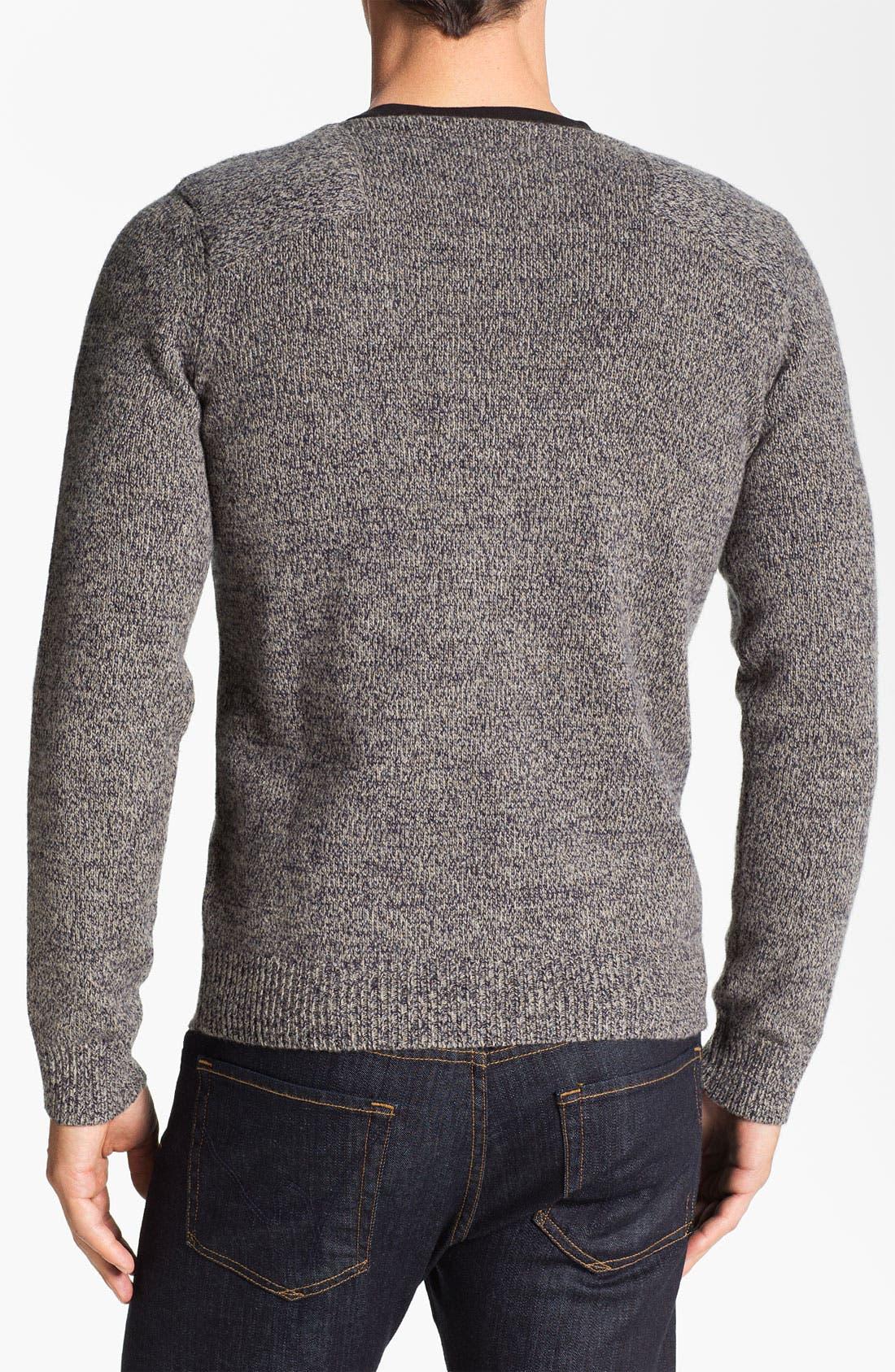 Alternate Image 2  - Façonnable Crewneck Wool Sweater