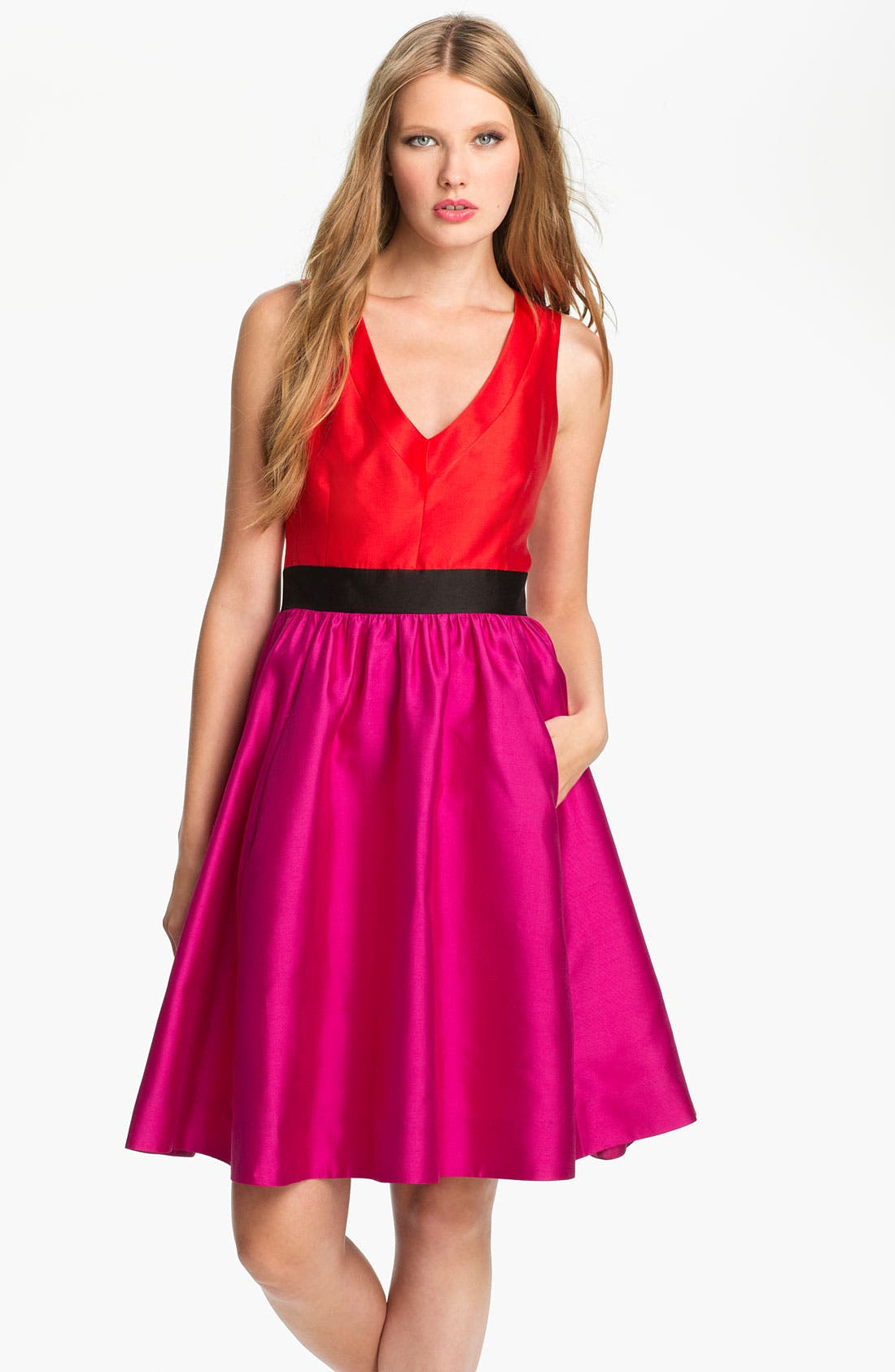 Alternate Image 1 Selected - kate spade new york 'normandy' silk blend fit & flare dress
