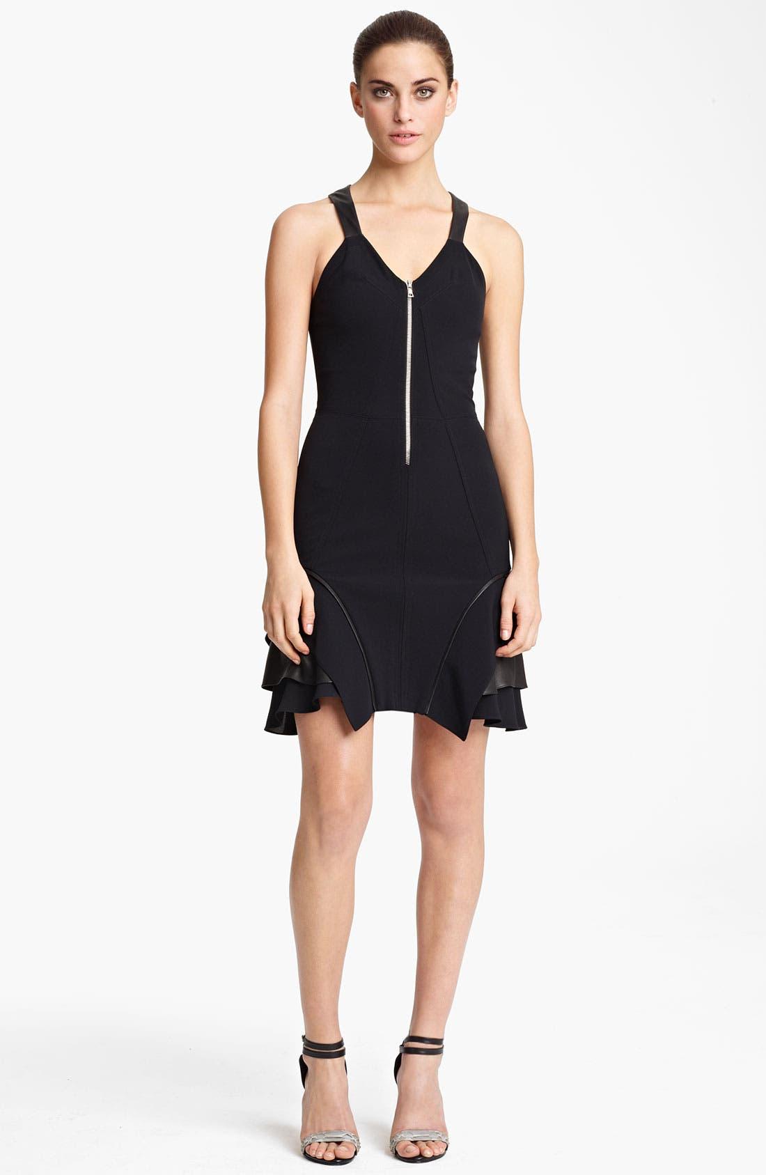 Alternate Image 1 Selected - Yigal Azrouël Crepe & Jersey Dress