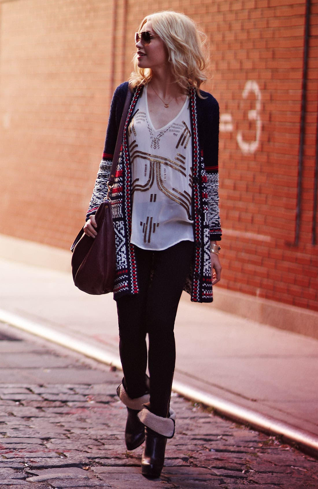Alternate Image 4  - Free People 'Annabelle' Nordic Knit Cardigan