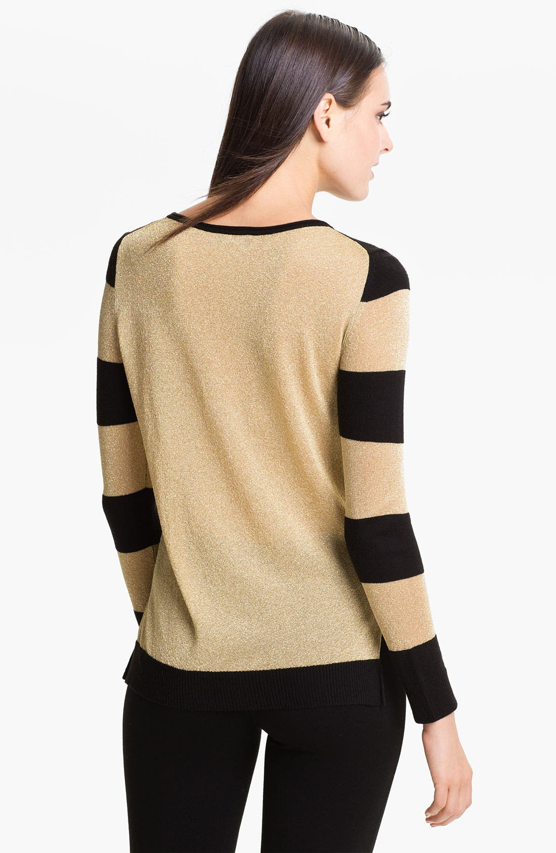 Alternate Image 2  - Vince Camuto Metallic Stripe Sweater