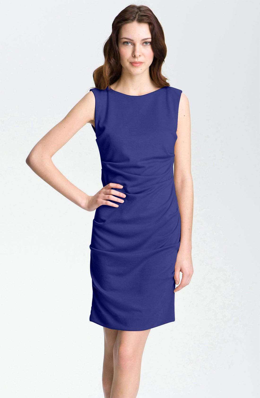 Alternate Image 1 Selected - Nicole Miller Pleated Ponte Knit Sheath Dress