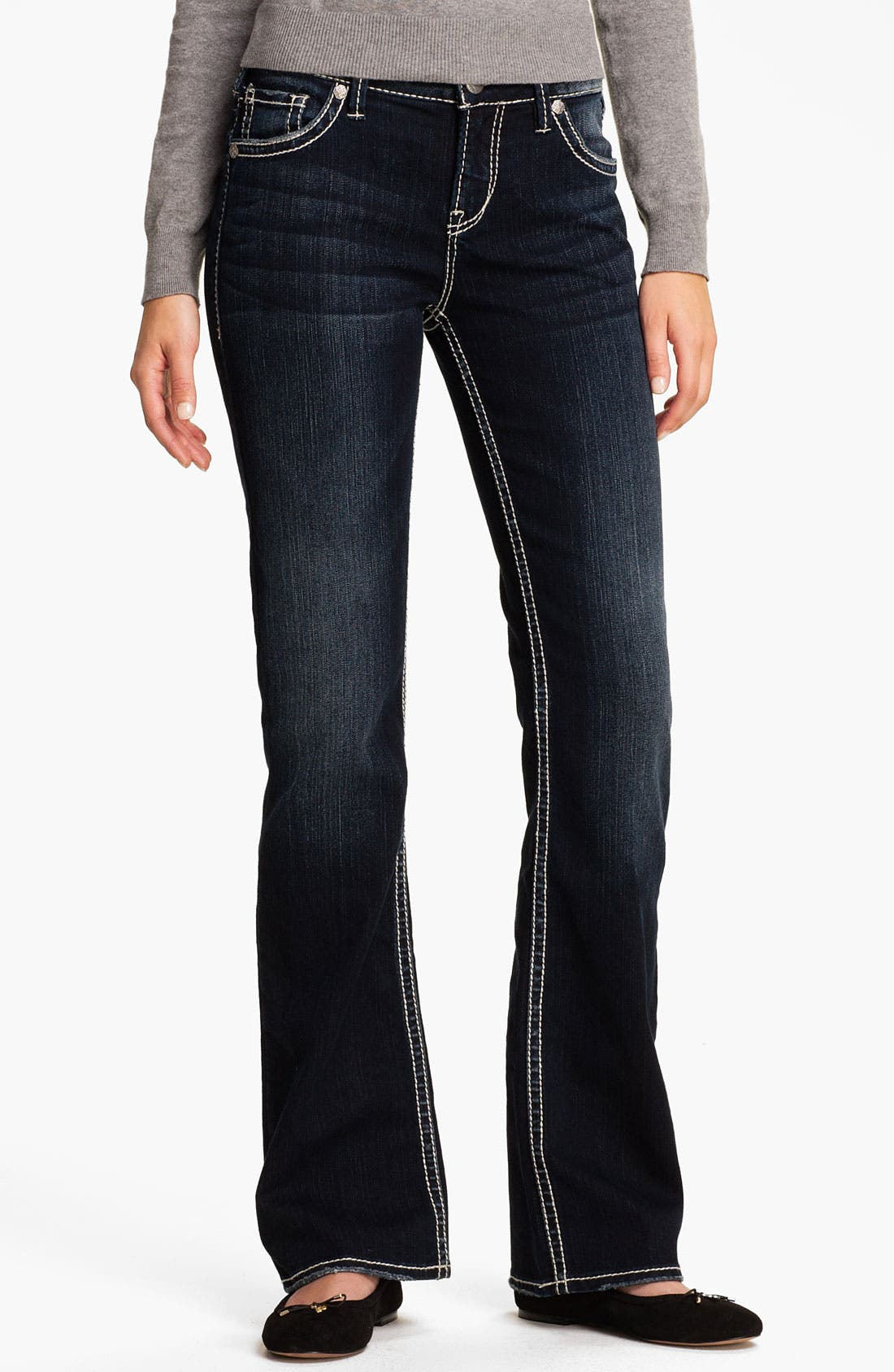 Alternate Image 2  - Silver Jeans Co. 'Natsuki' Bootcut Jeans (Juniors)