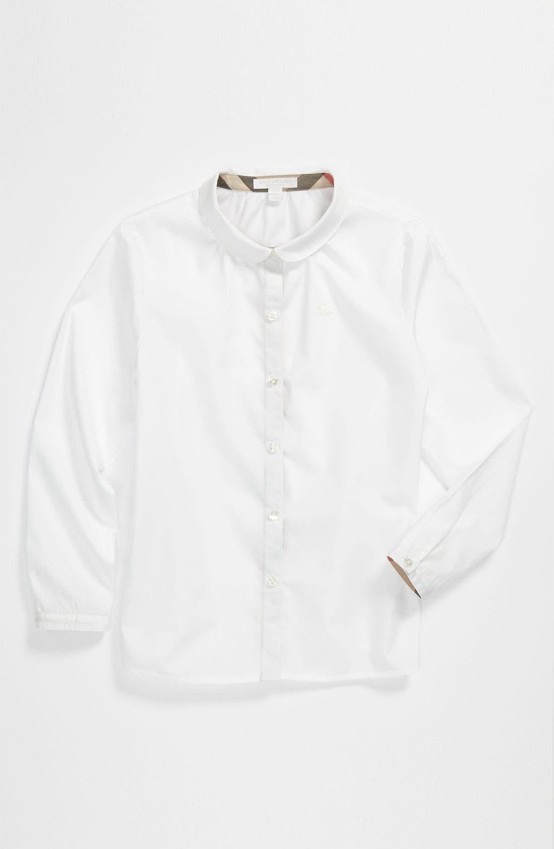 Alternate Image 1 Selected - Burberry Woven Shirt (Little Girls & Big Girls)
