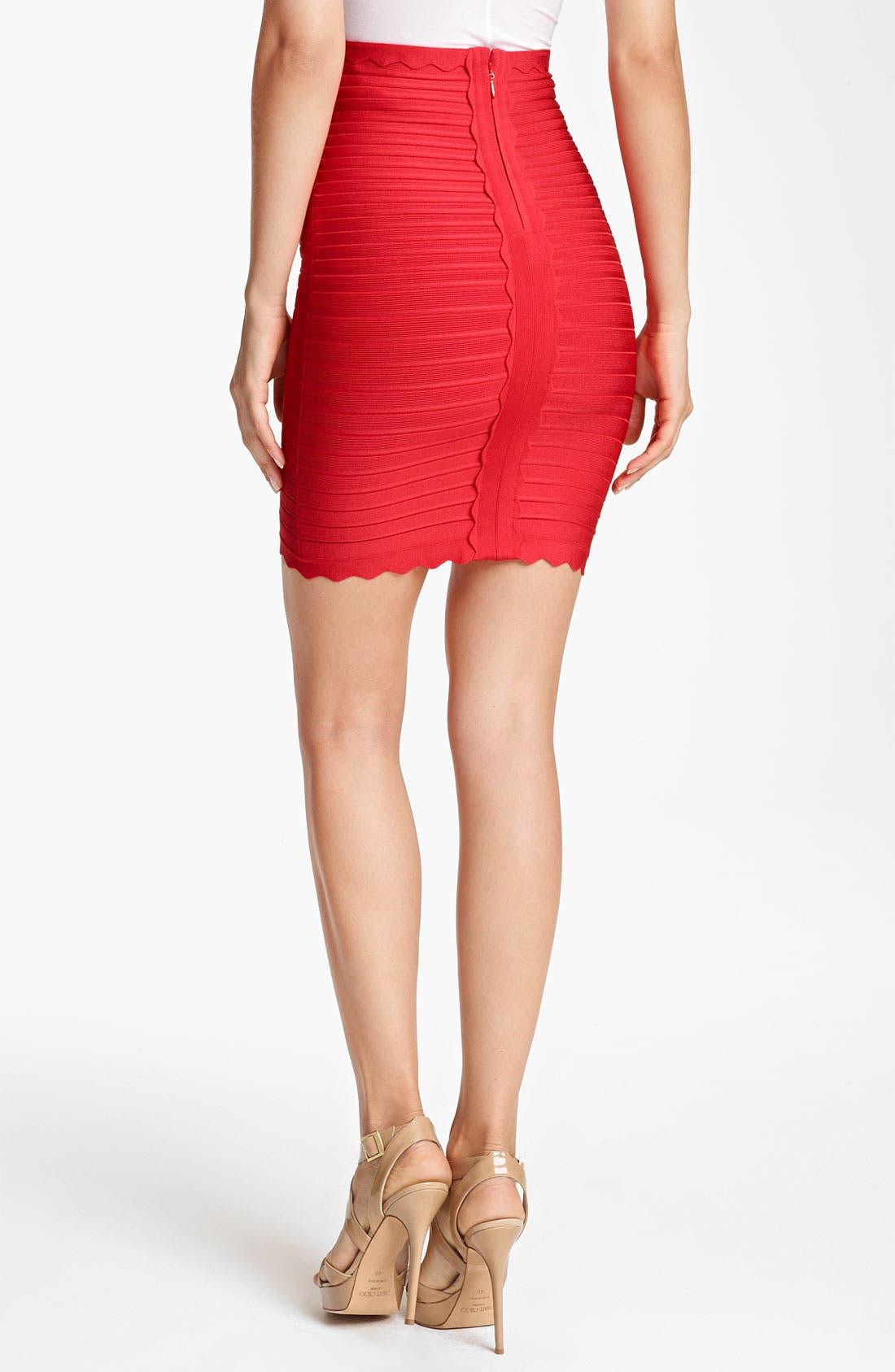 Alternate Image 2  - Herve Leger Scalloped Pencil Skirt